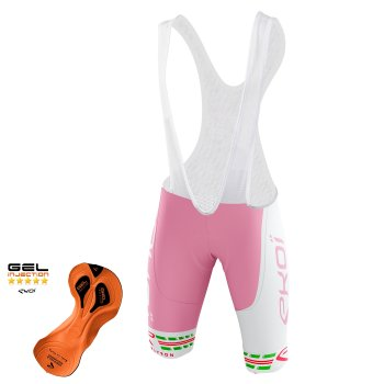 EKOI COMP11 Italia Rosa bib short with Gel Injection pad