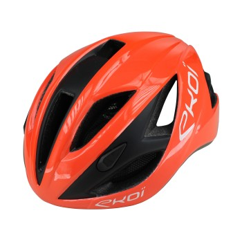 Casque EKOI AR13 Orange Noir Mat