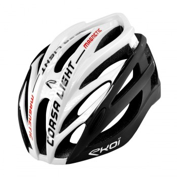 Hjelm EKOI CORSA LIGHT Hvid/Sort