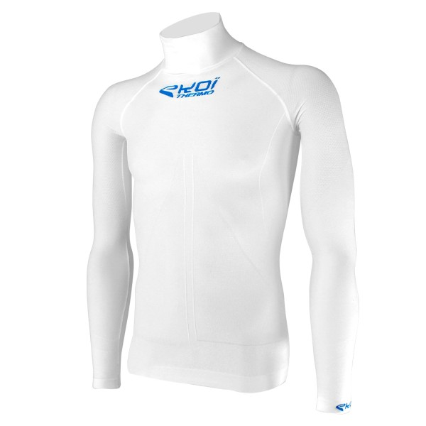 EKOI White Thermal base layer with high neck