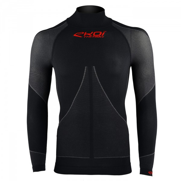 EKOI black Thermal base layer with high neck