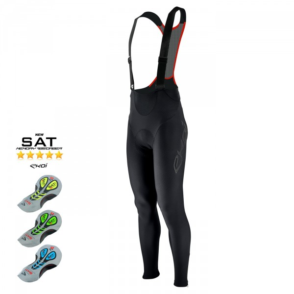 EKOI PRO bib tights with shape-memory gel SAT pad