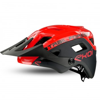 Casque EKOI MTB TRAIL FOREST Red Black