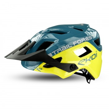 Casque EKOI MTB TRAIL FOREST Blue Yellow
