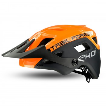Casque EKOI MTB TRAIL FOREST Orange Black
