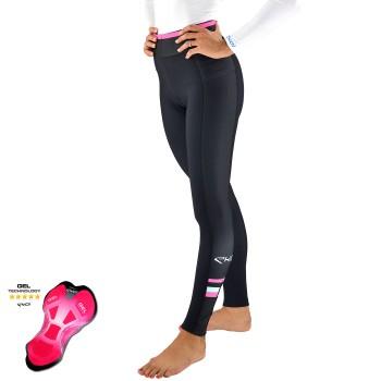 Kalhoty bez kšand s gelovou vložkou EKOI LADY, Černá / růžová
