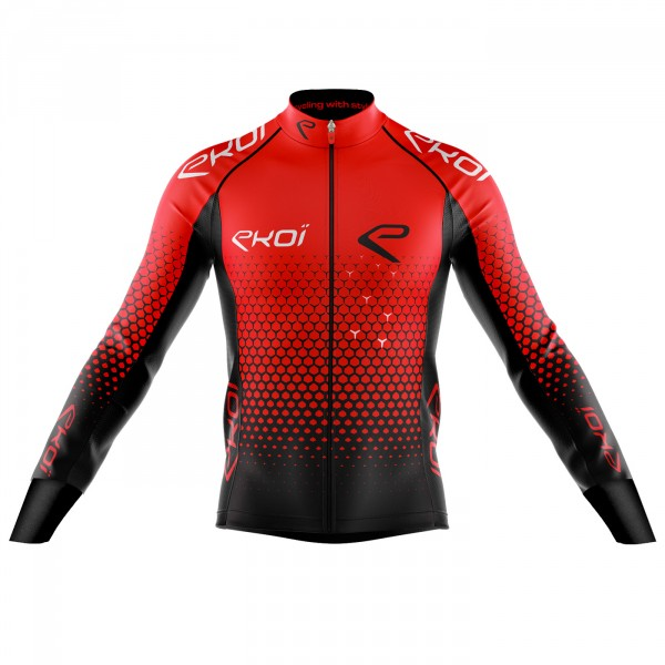 EKOI STAR RED WINTER CYCLING JERSEY