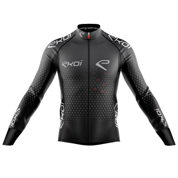 EKOI STAR ANTHRACITE WINTER CYCLING JERSEY