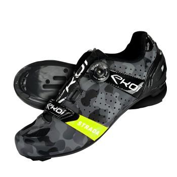 Chaussures route EKOI STRADA Camo Jaune