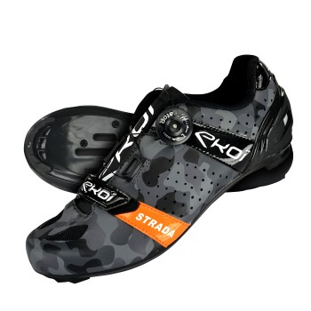 Chaussures route EKOI STRADA Camo Orange