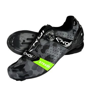 Chaussures route EKOI STRADA Camo Vert