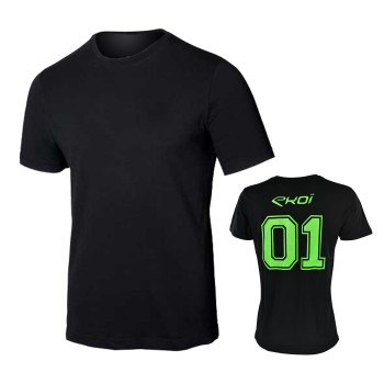T-shirt EKOI 01 V-hals grøn