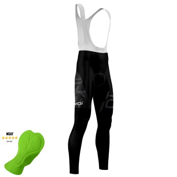 EKOI DESIGN BLACK winter bib tights with NSAT pad