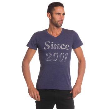 camiseta EKOI Cuello V Negro Rosa