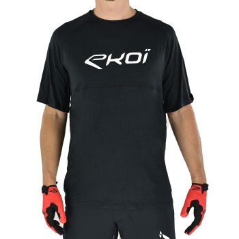 Czarna koszulka EKOI MTB BAMBOU krótki rękaw