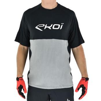 Czarno-szara koszulka EKOI MTB BAMBOU krótki rękaw