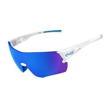 Briller EKOI PERF Hvid, blå linse