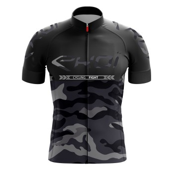 Trikot EKOI CYCLING FIGHT Schwarz