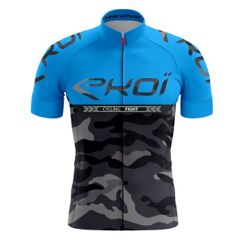 Shirt  EKOI CYCLING FIGHT Blauw