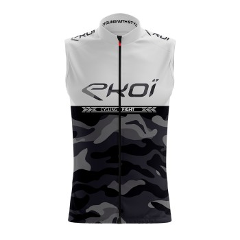 Gilet coupe-vent EKOI CYCLING FIGHT Blanc