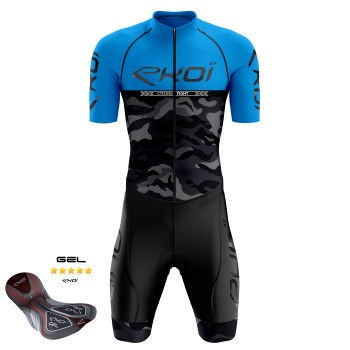 COMBINAISON VELO ETE EKOI CYCLING FIGHT BLEU