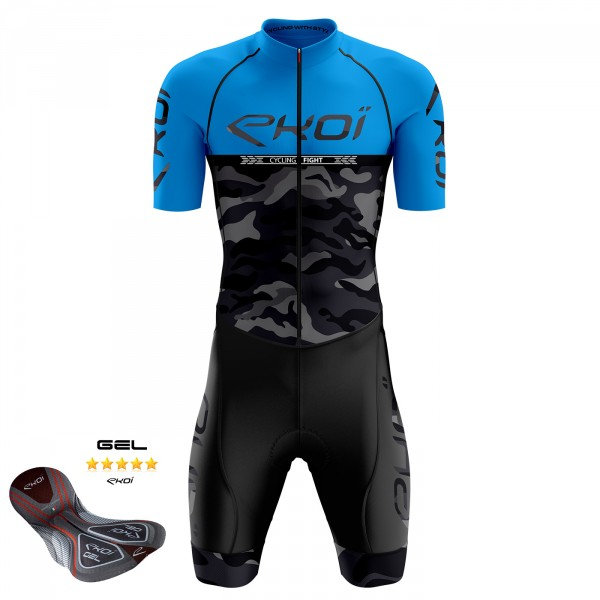 Tuta da ciclismo Gel EKOI CYCLGHT FIGHT Blu
