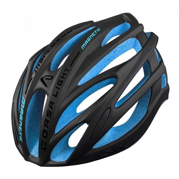 Helmet EKOI CORSA LIGHT Black Matt EPS Blue