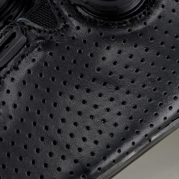 Chaussures route EKOI R6 LEATHER Noires