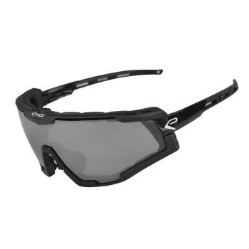 EKOI black SUN OPTION sunglasses with mirror lens