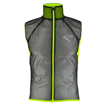 EKOI Transparent Black / Yellow rain gilet