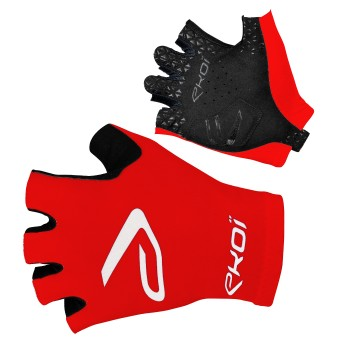 EKOI SAT red short fingered cycling gloves