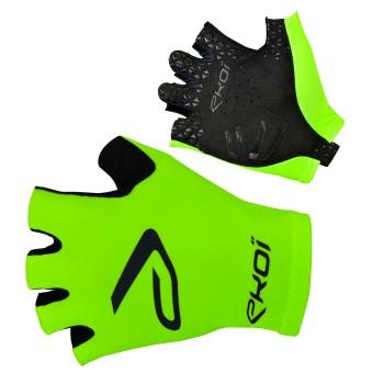 Fiets handschoenen  voor op de baan SAT EKOI fluo groen