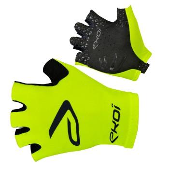 Fiets handschoenen  voor op de baan SAT EKOI fluo geel