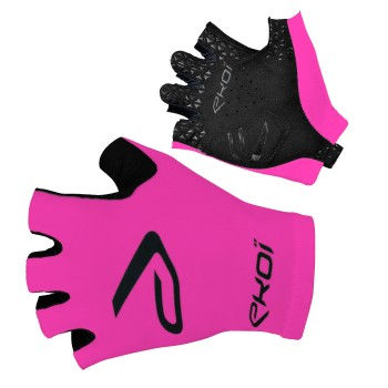 Rękawice szosowe rowerowe SAT EKOI Różowe fluo