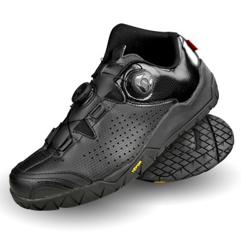 EKOI black VIBRAM sole MTB shoes