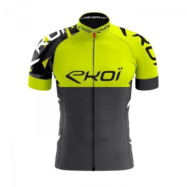 EKOI TEAM Yellow Fluo short sleeve jersey