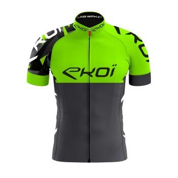 Cykeltrøje EKOI TEAM i Neongrøn