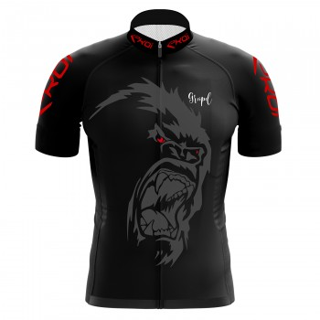 EKOI GORILLA GREIPEL Fight ALS Black short sleeve jersey
