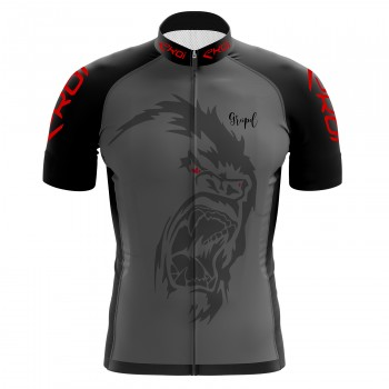 EKOI GORILLA GREIPEL Fight ALS Grey short sleeve jersey