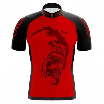 EKOI GORILLA GREIPEL Fight ALS Red short sleeve jersey