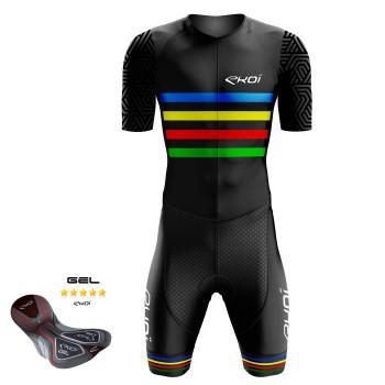Combinaison vélo Gel EKOI ARCOÏRIS Noir