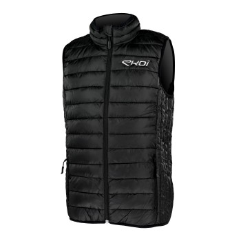 EKOI Black mid-season quilted gilet