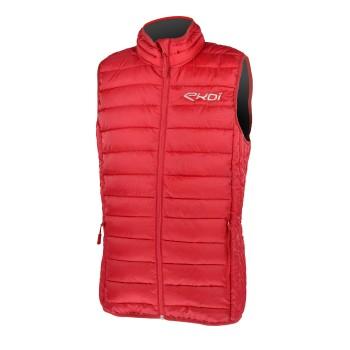 Czerwona kurtka pikowana EKOI MID Season