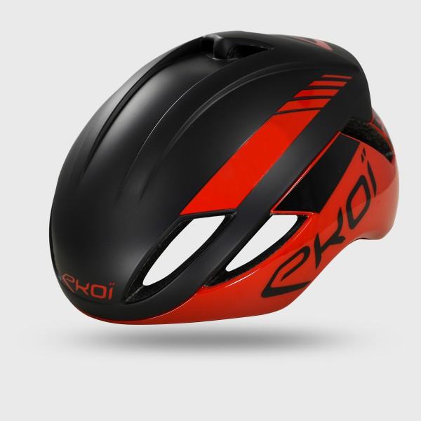 Rood Zwarte EKOI AR14 Helm
