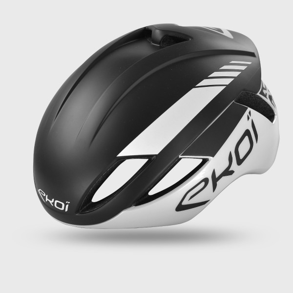 EKOI AR14 Helm zwart-wit