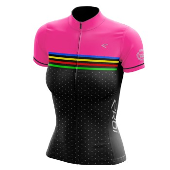 EKOI JUST FOR HER COLORS Pink short sleeve jersey