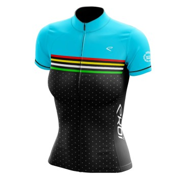 EKOI JUST FOR HER COLORS Turquoise short sleeve jersey