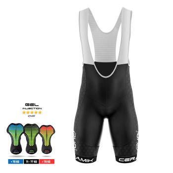 EKOI CERAMIK bib short with injected gel pad