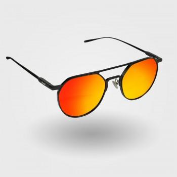 Brillerne EKOI METAL Proteam i Sort med Røde glas
