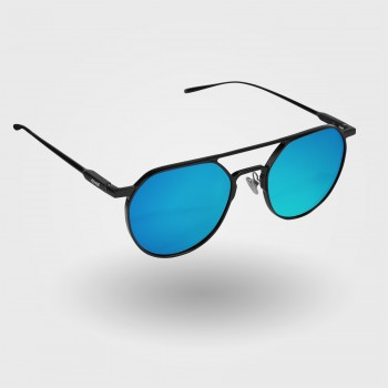 Glasses  EKOI METAL Proteam Black Blue Lenses